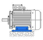 Исполнение IM 1081 - электродвигатель на лапах