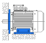 Исполнение IM 2081 - электродвигатель комбинированный (лапы и фланец)