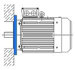 Исполнение IM 3081 - электродвигатель с фланцем